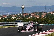 Force India leidet in Ungarn: McLaren & Renault schneller, Top-10 in Gefahr