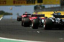 Formel 1: Die Auto-Generation 2017 im Zeitenvergleich mit 2016