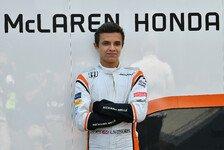 Formel-1-Ersatzfahrer Lando Norris startet 2018 in der Formel 2