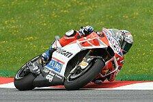 Dovizioso besiegt im Warm Up von Österreich Marquez, Folger mit Crash