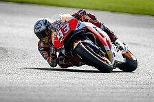 Marc Marquez ringt Valentino Rossi im Pole-Duell in Silverstone nieder