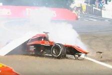 Formel 2 - Video: Heftiger Crash bei der Formel 2 in Spa-Francorchamps