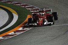 Sebastian Vettel (Ferrari) in Singapur: Unfall und abgeschlagen
