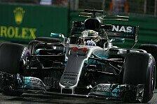 Mercedes: Lewis Hamilton in Singapur auf Kurs, Bottas besorgt