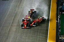 Vettel und Verstappen: Keine Strafe nach Singapur-Crash 2017