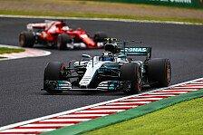 Formel 1 Japan 2017: Bottas (Mercedes) mit Startplatzstrafe