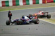 Formel 1, Japan 2017: Unfall von Carlos Sainz