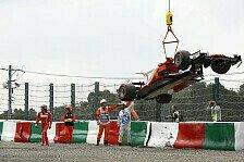 Formel 1, Japan 2017: Unfälle von Bottas & Räikkönen