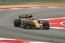 Formel 1, Austin 2017: Renault-Debütant Sainz vor Hülkenberg