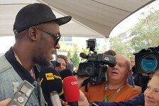 Formel 1 USA: Usain Bolt mit Lewis Hamilton im Mercedes