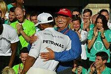Formel 1, Hamilton dankt Lauda: Er hat mein Leben verändert