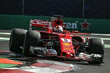 Formel 1 Mexiko 2017: Sebastian Vettel gewinnt Qualifying-Krimi