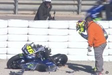 Valentino Rossi: Übler Crash beim MotoGP-Test in Valencia