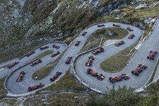 Formel-1-Challenge auf Pflaster: Red Bull bezwingt Gotthardpass
