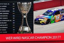 NASCAR - Video: NASCAR Saisonfinale 2017: Wer wird in Homestead-Miami Champion?