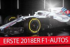 Formel 1 - Video: Williams & Haas: Die ersten 2018er Formel-1-Autos sind da!