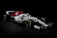 Formel 1 2018: Alfa Romeo Sauber C37 ist da - erste Fotos