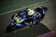 Suzuki in Katar stark: Iannone an Tag 2 vorn, Rins in den Top-5