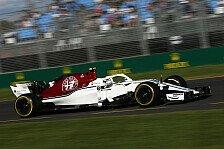 Formel 1, Australien - Letzter: Sauber enttäuscht von Rückstand