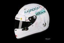 Formel 1 2018: Sebastian Vettel mit neuem Leichtbau-Helm