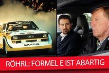 Walter Röhrl: Formel E abartig, Elektromobilität keine Lösung