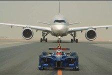 Formel-E-Rennauto vs. Flugzeug - 4 völlig verrückte Duelle