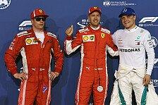 Formel 1 2018: Räikkönen & Bottas heizen Vettel & Hamilton ein