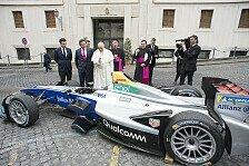 Papst Franziskus segnet Formel E vor dem Rom ePrix 2018