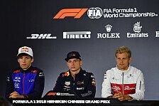 Formel 1 2018: Das war der Donnerstag aus China im Ticker