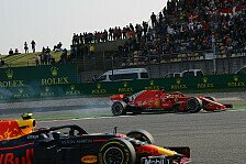 Formel 1 Japan, Vettel geht nach Crash auf Verstappen los