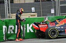 Formel 1, Baku: Max Verstappen trotz Crash und Defekt entspannt