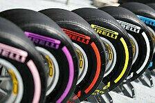 Formel 1: Ab 2019 wohl nur noch drei Reifenmischungen