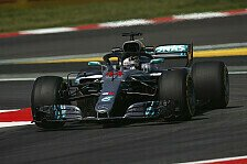 1. Training Barcelona: Mercedes vor Ferrari, Red Bull crasht