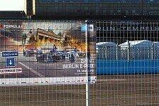 Formel E Berlin 2018: Strecken-Vorbereitungen in Tempelhof