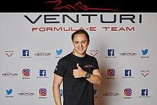 Formel E: Ex-Formel-1-Pilot Felipe Massa startet für Venturi