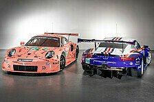 Porsche mit historischen Designs bei den 24h Le Mans am Start