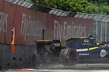 Formel 1, Renault schiebt Kanada-Frust: Crash & Getriebedefekt