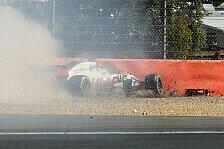 Formel 1 Silverstone: Grosjean crasht im Training wegen DRS