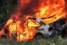Mehr Rallyes - Video: Ken Block on fire: Rallye-Auto ausgebrannt