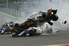 Formel 1 2018: Belgien GP - Horror-Crash nach dem Start