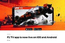 Formel 1 Live-Stream: F1 TV Pro jetzt auch als App gestartet