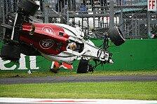 Formel 1 2018: Italien GP - Horror-Crash von Marcus Ericsson