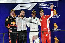 Formel 1 2018: Singapur GP - Podium