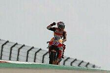 MotoGP Aragon 2018: Marquez gewinnt Schlacht, Lorenzo verletzt