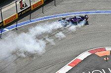 Doppel-Aus für Toro Rosso in Sochi: Bremsversagen, Gasly-Schock