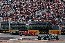 Formel 1, Russland-Reifen: Ferrari & RB ident, Mercedes-Split