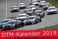 DTM-Rennkalender 2019: Zolder und Assen drin, Spielberg draußen