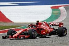Formel 1, USA: Räikkönen siegt, Mercedes und Vettel patzen