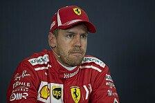 Formel 1, Vettel: 2018 nicht voll auf der Höhe, kann ich besser