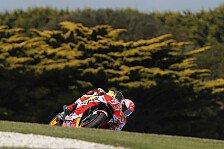 MotoGP Phillip Island 2018: Marquez mit FP3-Bestzeit nach Sturz